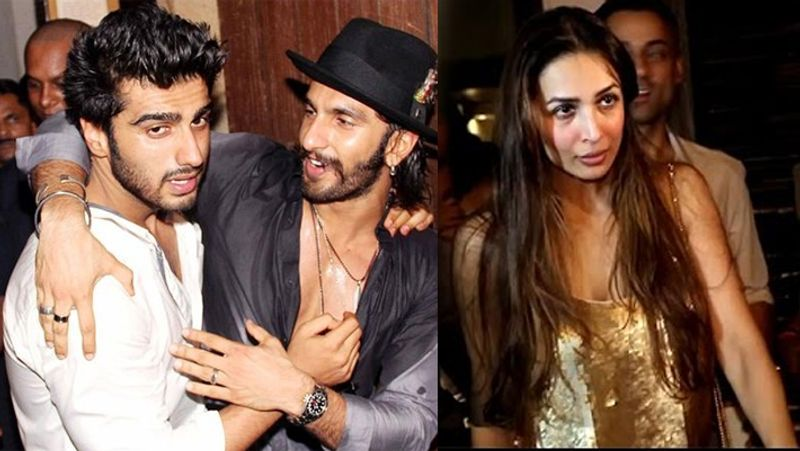 Bollywood actor Arjun Kapoor along with Yarana Khyalat, Ranveer Singh and on the other hand Malaika Arora