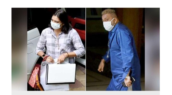 सफेद मास्क, आँखों में गुस्सा, बहन के हाथ में मेडिकल रिपोर्ट, अस्पताल से निकलते कुछ ऐसा था संजू बाबा का रिएक्शन