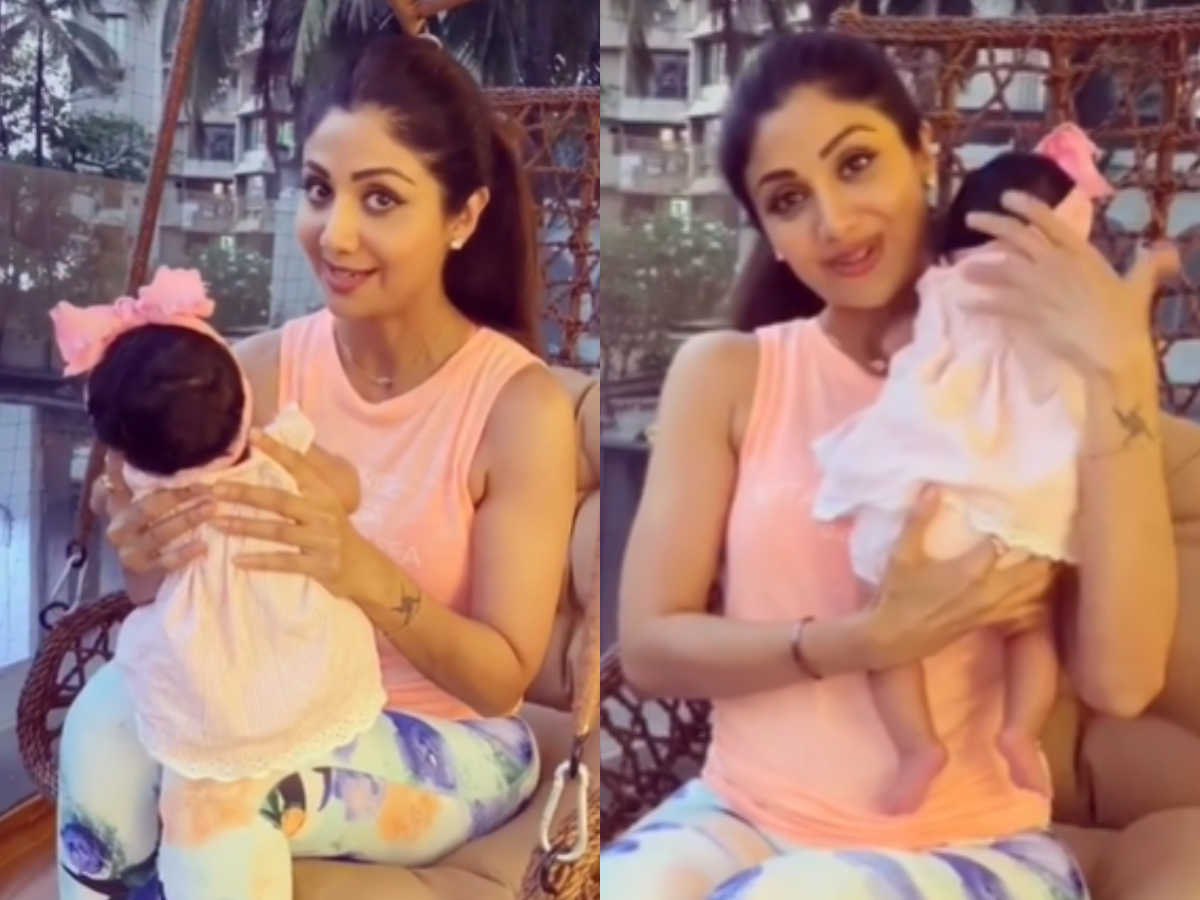 Shilpa Shetty's daughter's cute face revealed for the first time, Sameesha is more cute than the extent